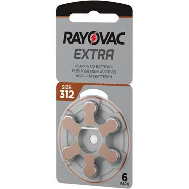 Rayovac Extra hearing Aid batteries 312 size