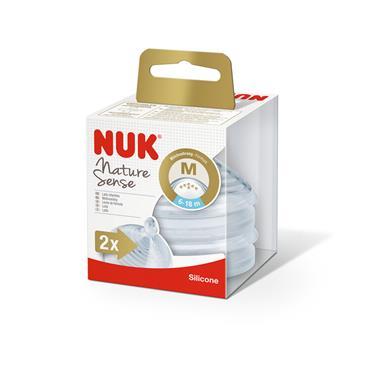 Nuk Nature Sense Teat Size 2 Medium 2 Pc