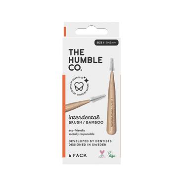 Humble Brush Company Interdental Bamboo Brush Size 1 6-Pack