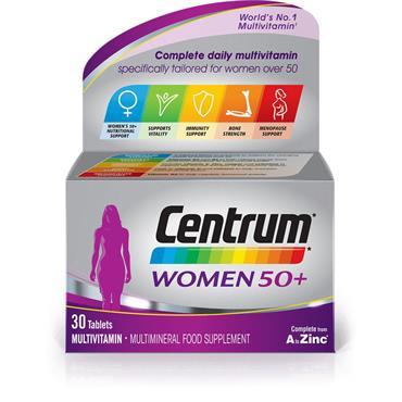Centrum 50 Plus Multivitamin Tablets For Women 30Capsules