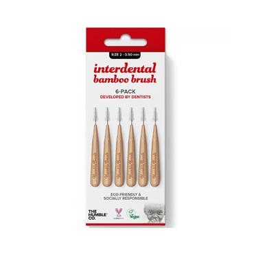 Humble Brush Company Interdental Bamboo Brush Size 2 6-Pack