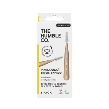 Humble Brush Company Interdental Bamboo Brush Size 4 6-Pack