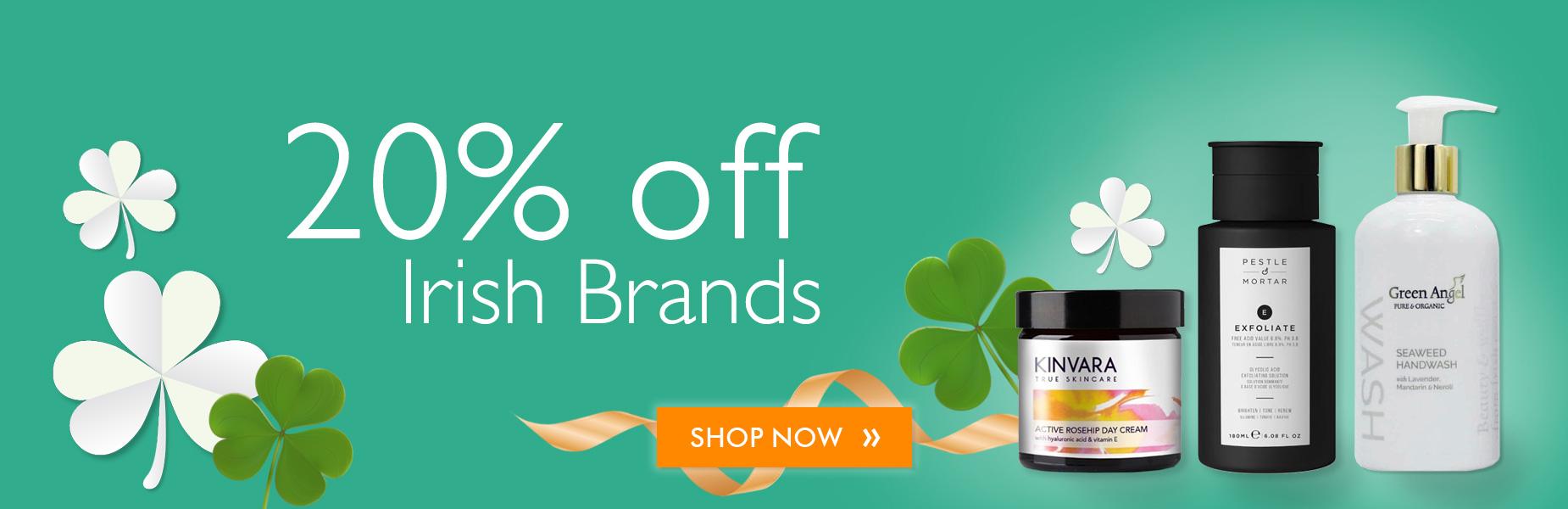 20% off Irish Brands
