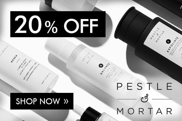Pestle & Mortar 20% Off