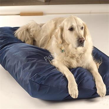 Trojan Waterproof Mattress Dog Bed Blue