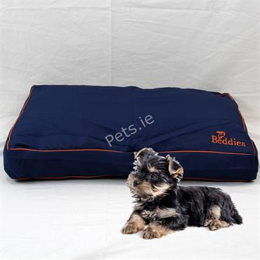 Waterproof Dog Bed Mattress Blue & Rust - Small