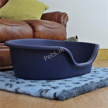 Plastic Dog Bed Blue - Small