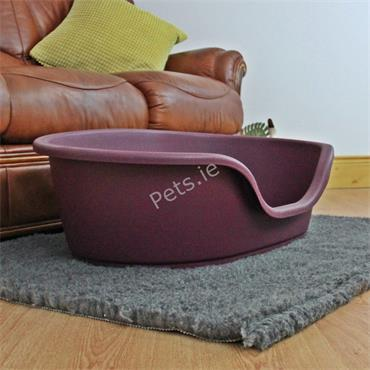 Plastic Dog Bed Cranberry - Small