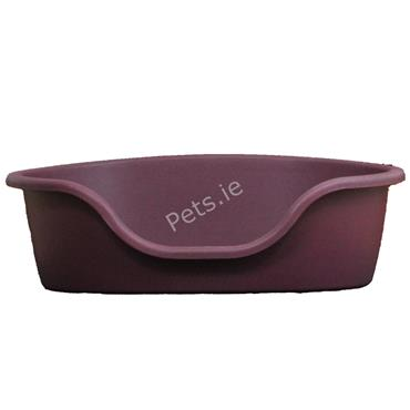 Plastic Dog Bed Cranberry - Large