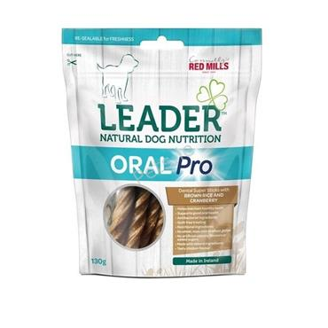 Leader - Oral Pro Dental Sticks - Brown Rice & Cranberry