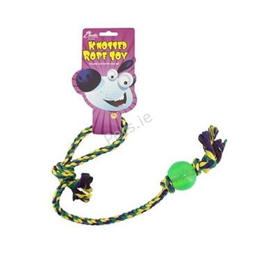 Extra Long Rope Tug with Ball Dog Toy