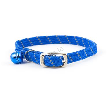 Reflective Softweave Blue Cat Collar