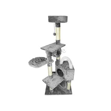 Olympus Cat Scratch Tree Gym Grey