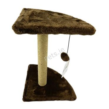 Corner Sisal Cat Scratch Post Brown