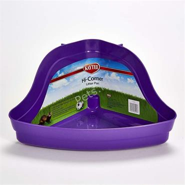Small Animal Hi Corner Litter Pan - 13""