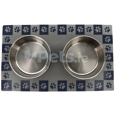 Magnetic Mat with Bowls - Black
