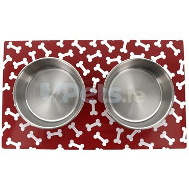Magnetic Mat with Bowls - Red