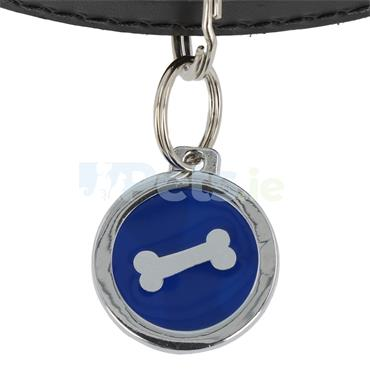 ID Tag Deluxe - Bone - Blue