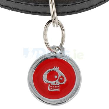 ID Tag Deluxe - Skull - Red