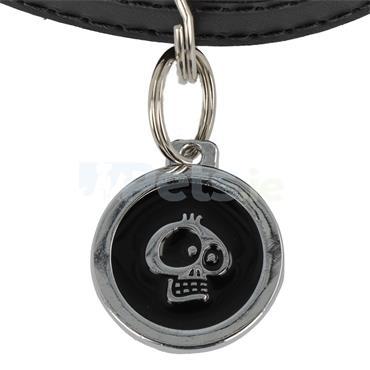 ID Tag Deluxe - Skull - Black