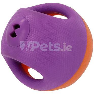 Dog Ball - Treat Dispenser - Large - Purple & Orange