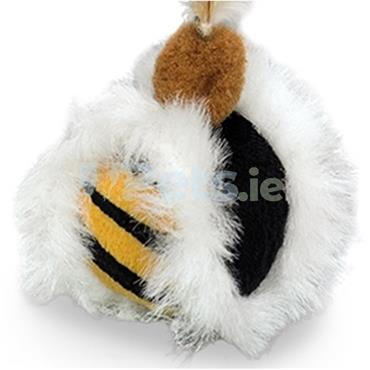 Plush Ball & Feather - With Catnip