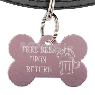 ID Tag - Bone - Free Beer