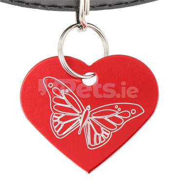 ID Tag - Heart - Butterfly