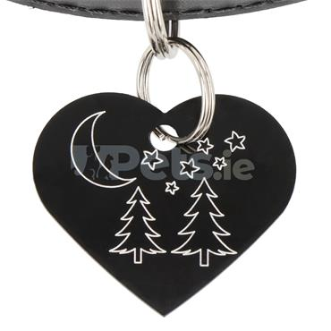 ID Tag - Heart - Star Gazing
