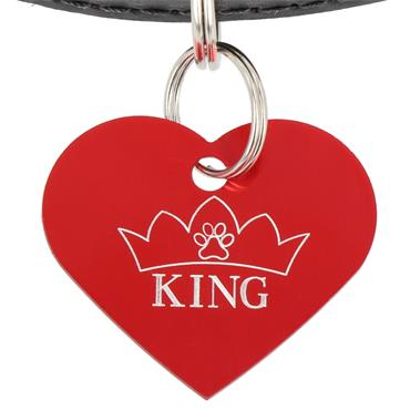 ID Tag - Heart - King