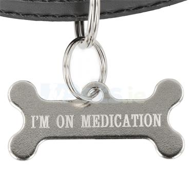 ID Tag - Silver Bone - Medication