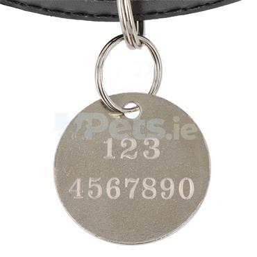 ID Tag - Silver Circle - Border