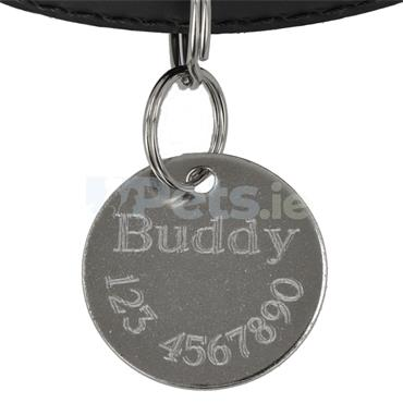 ID Tag - Silver Circle - Microchipped
