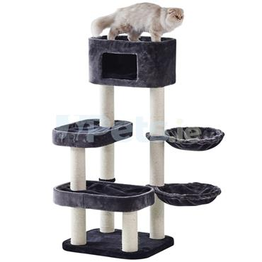 Cat Scratching Tree - Fran - Grey & White