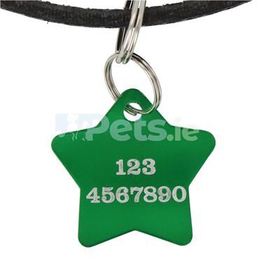 ID Tag - Green Star