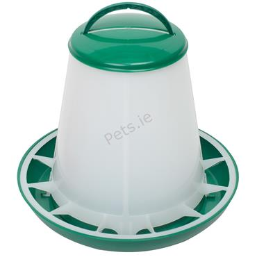 Green & White Feeder - Chicken