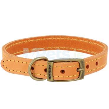Timberwolf Leather Dog Collar Mustard