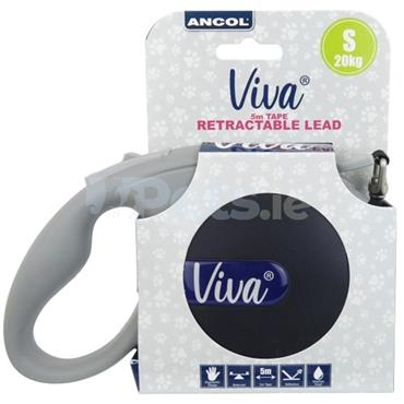 Viva Retractable Dog Lead Black