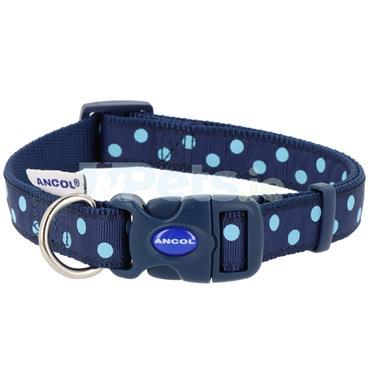 Blue Polka Dots Dog Collar