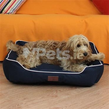 Beddies Waterproof Dog Bed Navy/Beige - Lounger