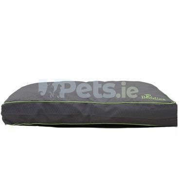 Beddies Waterproof Dog Bed Charcoal/Lime - Mattress