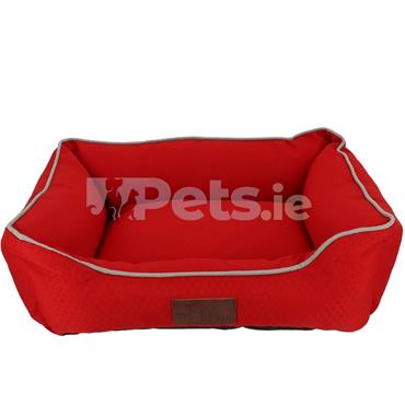 Beddies Waterproof Dog Bed Red/Grey - Lounger
