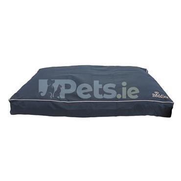 Waterproof Dog Bed Navy/Beige - Mattress