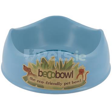 Beco Bamboo Dog Bowl - Blue