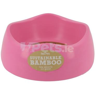 Beco Bamboo Dog Bowl - Pink
