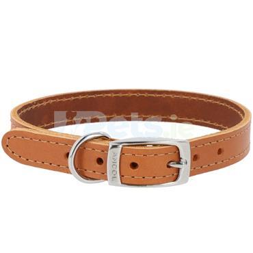 Heritage Leather Dog Collar Tan