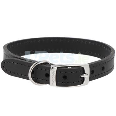Heritage Leather Dog Collar Black