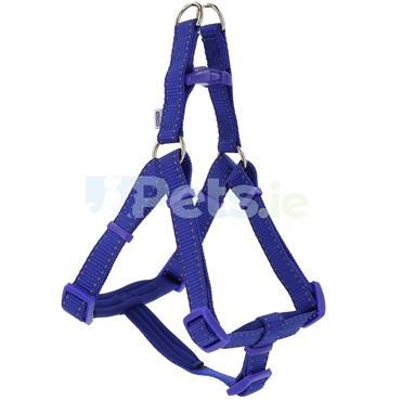 Reflective Padded Dog Harness Blue
