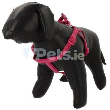 Reflective Padded Dog Harness Raspberry