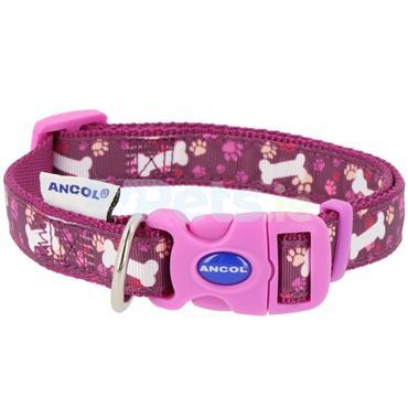 Purple Bone Dog Collar